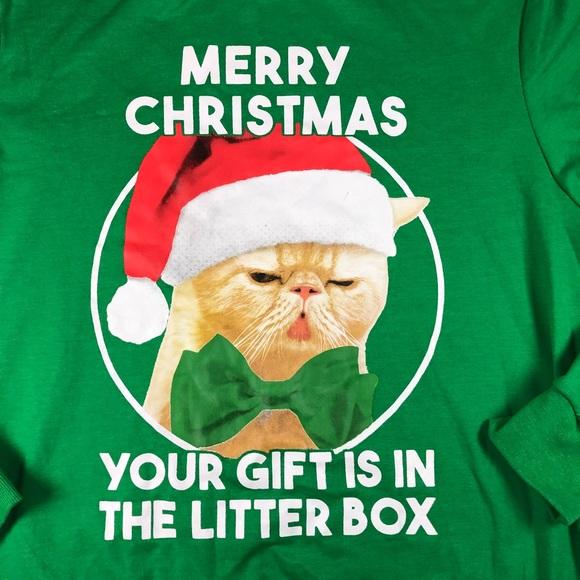 Grumpy Cat Ugly Christmas Sweater.Grumpy Cat Green Ugly Christmas Sweatshirt Xl